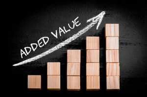 we add value